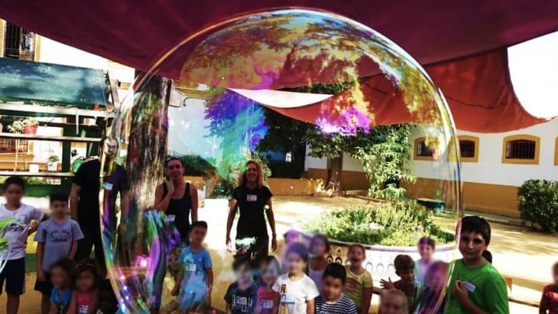 Campus de verano entre burbujas