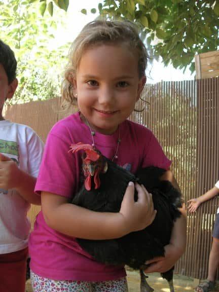 Con los animales de la granja escuela La buhardilla tendrás fotos muy especiales como esta