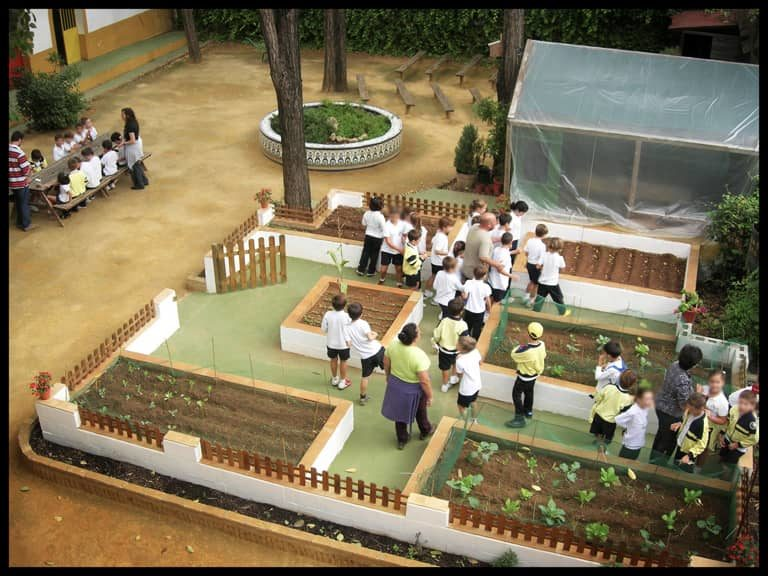 Nuestro huerto en La granja escuela La Buhardilla