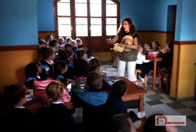 Visita escolar en la granja escuela La Buhardilla, aprender divirtiendo